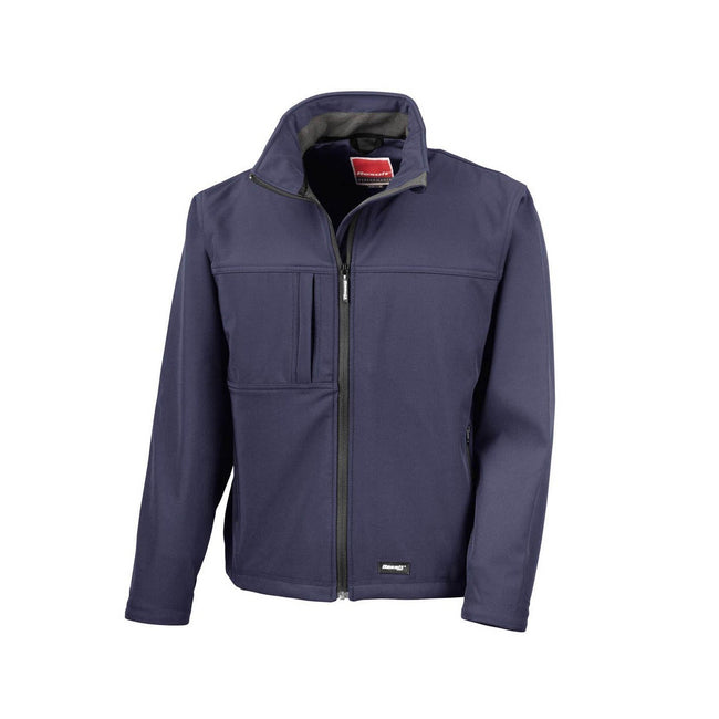 Navy Blue - Front - Result Mens Classic Softshell Breathable Jacket