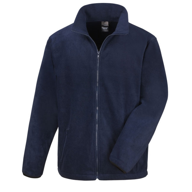 Navy Blue - Front - Result Mens Core Fashion Fit Outdoor Fleece Jacket