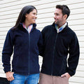 Navy Blue - Back - Result Mens Core Fashion Fit Outdoor Fleece Jacket