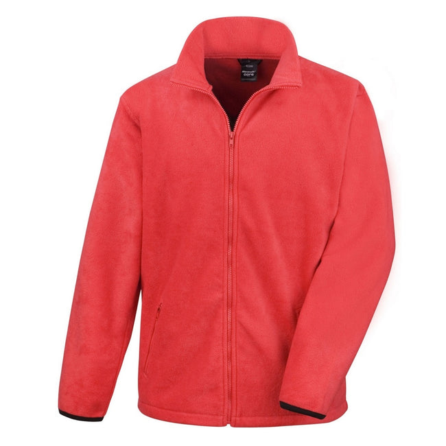 Flame Red - Front - Result Mens Core Fashion Fit Outdoor Fleece Jacket