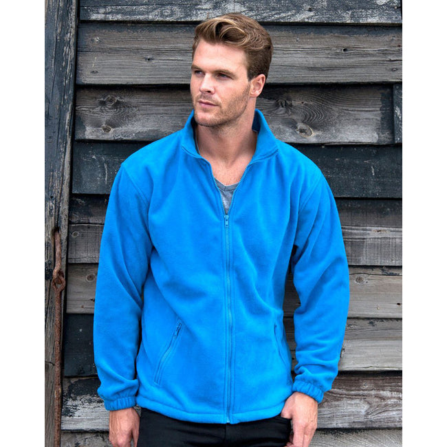 Electric Blue - Side - Result Mens Core Fashion Fit Outdoor Fleece Jacket