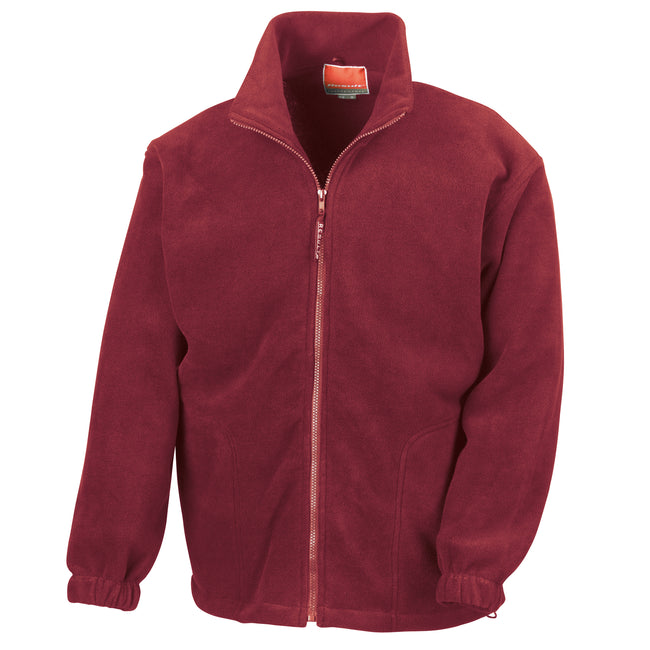 Orange - Front - Result Mens Full Zip Active Fleece Anti Pilling Jacket