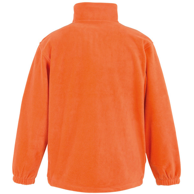Orange - Back - Result Mens Full Zip Active Fleece Anti Pilling Jacket