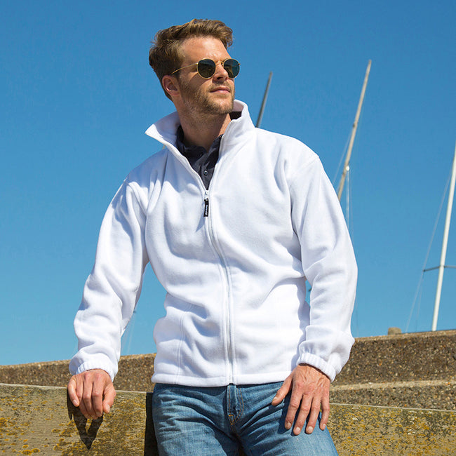 Burgundy - Front - Result Mens Full Zip Active Fleece Anti Pilling Jacket