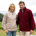 Burgundy - Side - Result Mens Full Zip Active Fleece Anti Pilling Jacket