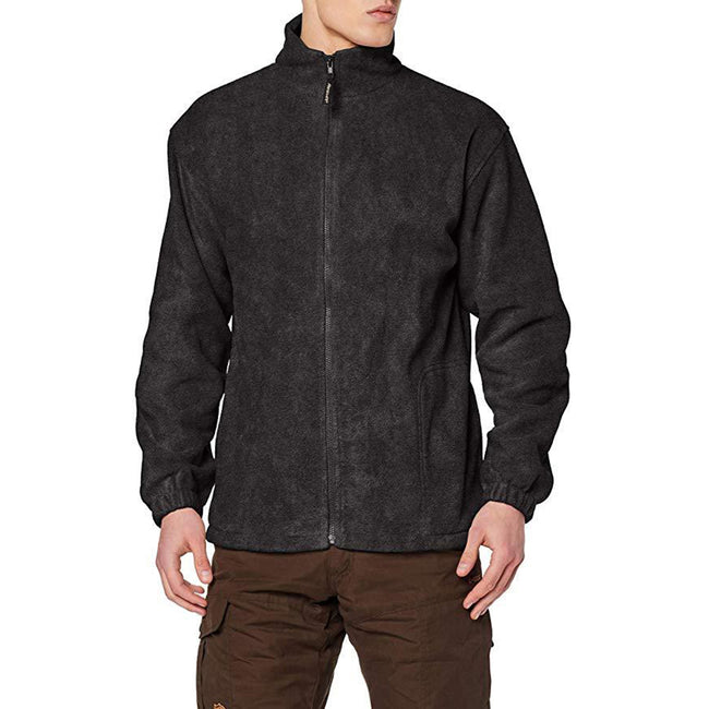 White - Front - Result Mens Full Zip Active Fleece Anti Pilling Jacket