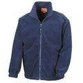 Black - Front - Result Mens Full Zip Active Fleece Anti Pilling Jacket
