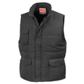 Black - Back - Result Mens Mid-Weight Bodywarmer Showerproof Windproof Jacket