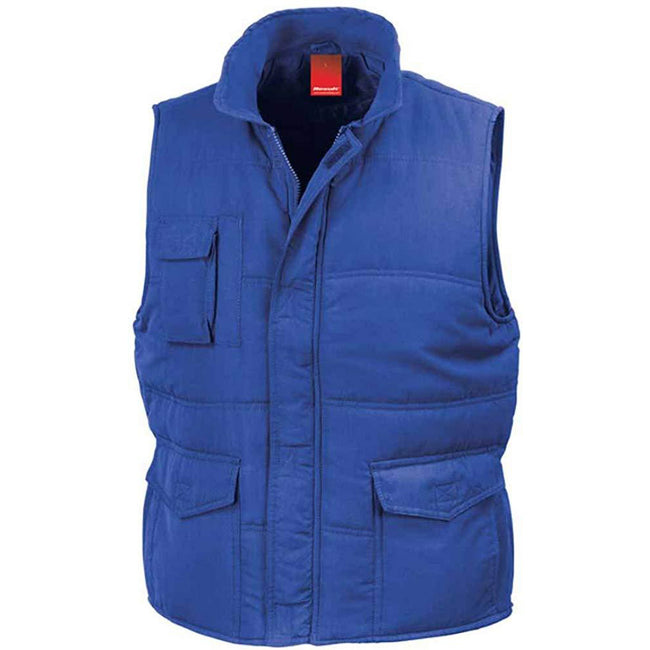 Royal - Front - Result Mens Mid-Weight Bodywarmer Showerproof Windproof Jacket