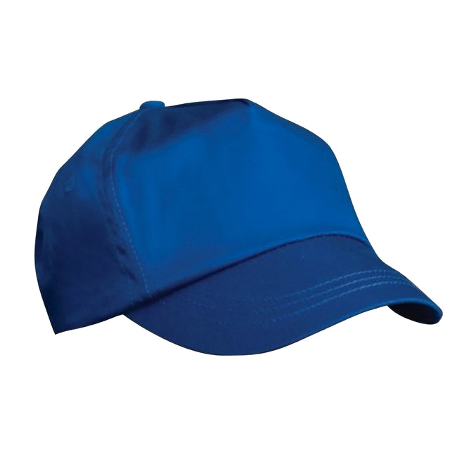 Royal - Front - Result Unisex Childrens-Kids Plain Basebll Cap