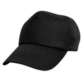 Black - Back - Result Unisex Childrens-Kids Plain Basebll Cap