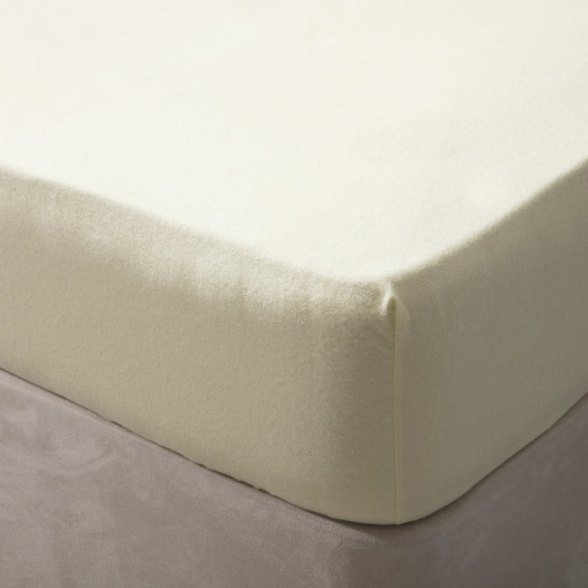Ivory - Front - Belledorm Jersey Cotton Fitted Sheet