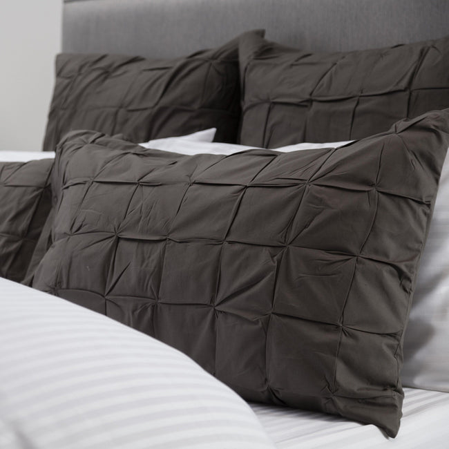 Charcoal Grey - Front - Belledorm Darley Housewife Pillowsham