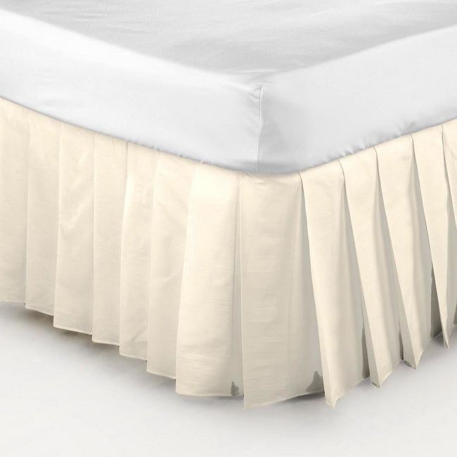 Cream - Front - Belledorm Easy Fit Knife Pleated Platform Valance