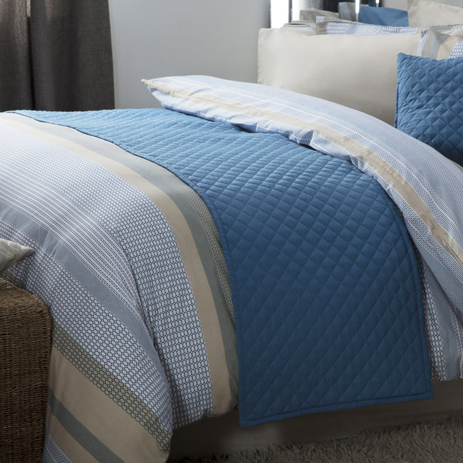 Cobalt Blue - Front - Belledorm Seville Bed Runner