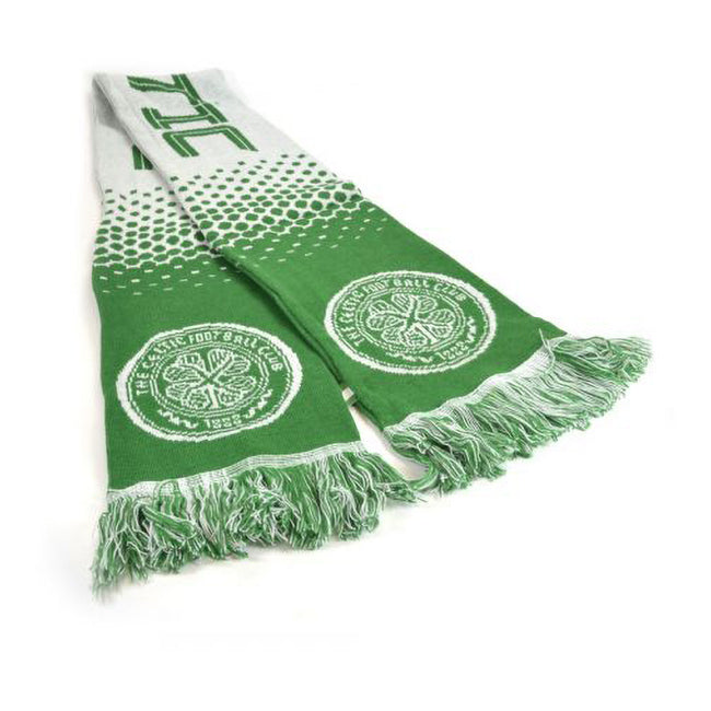 Green-White - Back - Celtic FC Official Football Fade Jacquard Scarf