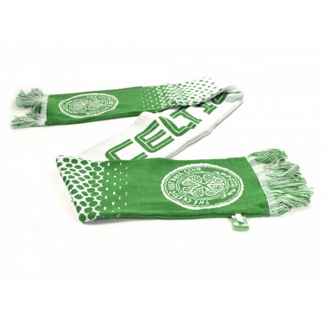 Green-White - Front - Celtic FC Official Football Fade Jacquard Scarf