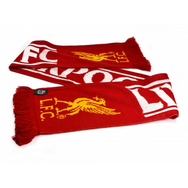 Red-White-Yellow - Front - Liverpool FC Official Football Feather Scarf