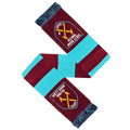 Claret-Blue - Back - West Ham FC Official Football Jacquard Bar Scarf