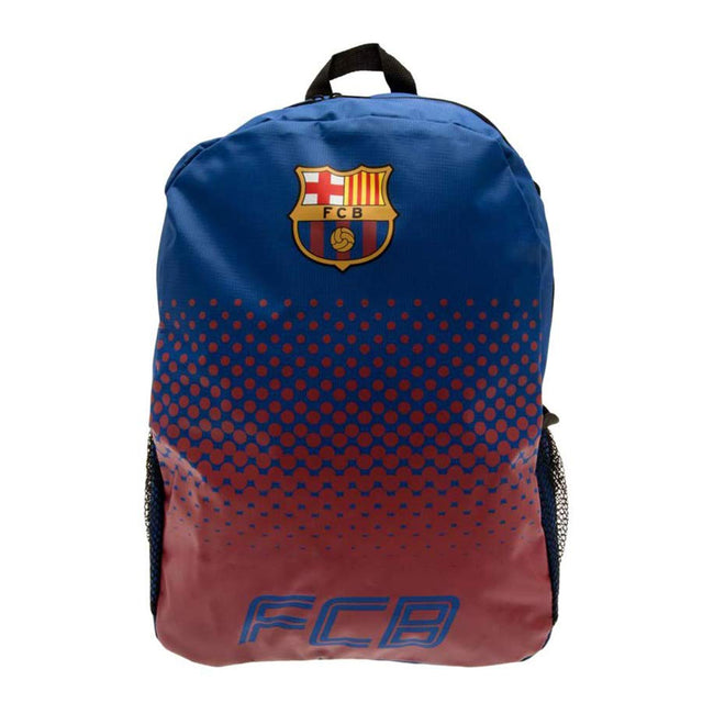 Blue-Claret - Back - FC Barcelona Official Football Fade Backpack-Rucksack