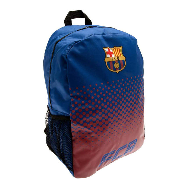 Blue-Claret - Side - FC Barcelona Official Football Fade Backpack-Rucksack