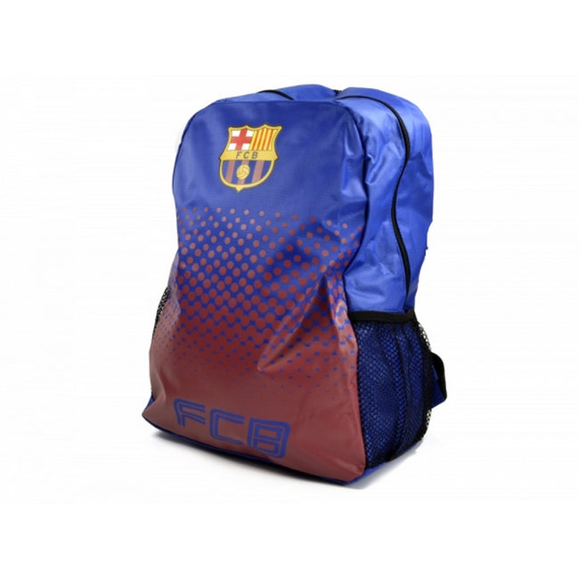 Blue-Claret - Front - FC Barcelona Official Football Fade Backpack-Rucksack