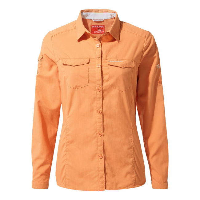 Soft Apricot - Front - Craghoppers Womens-Ladies NosiLife Adventure II Long Sleeved Shirt