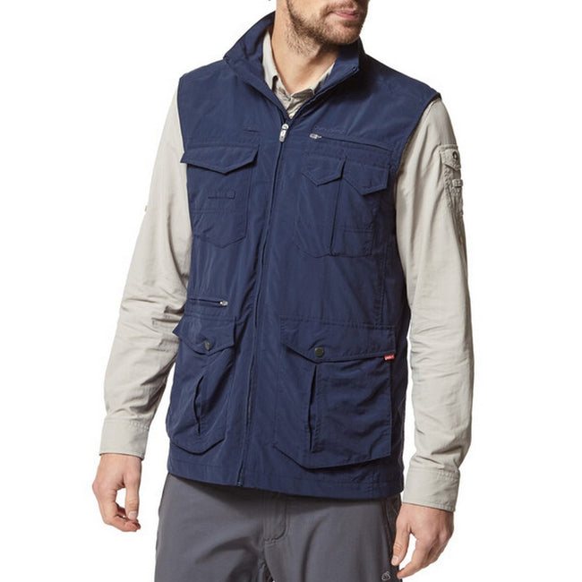Blue Navy - Side - Craghoppers Mens NosiLife Adventure Gilet II