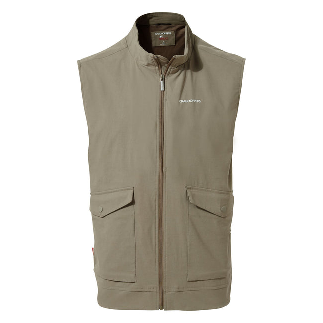 Pebble - Front - Craghoppers Mens NosiLife Varese Vest