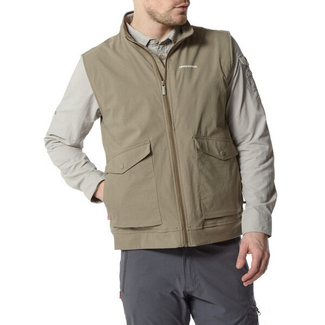 Pebble - Side - Craghoppers Mens NosiLife Varese Vest
