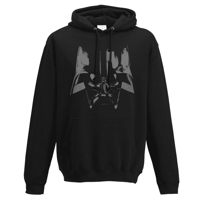 Black - Front - Star Wars Adults Unisex Adults Vader Close Up Design Hooded Sweatshirt