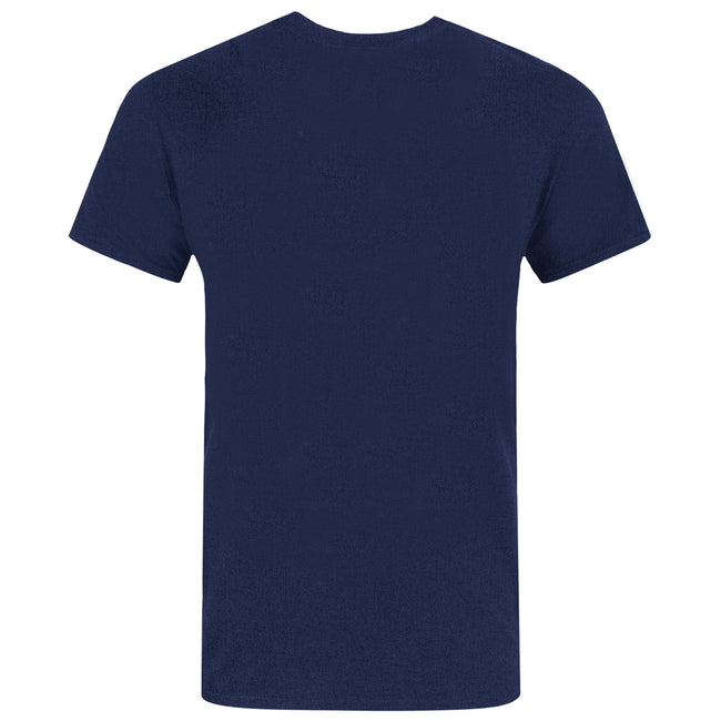 Blue - Back - Captain America Unisex Adults Distressed Shield Design T-Shirt