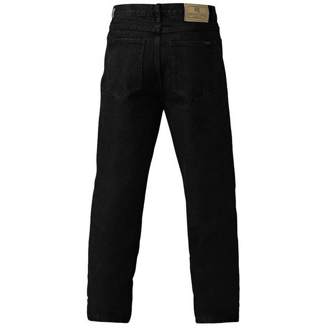 Stonewash - Back - Duke Mens Rockford Comfort Fit Jeans