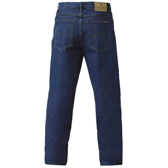 Stone - Back - Duke Mens Rockford Comfort Fit Jeans