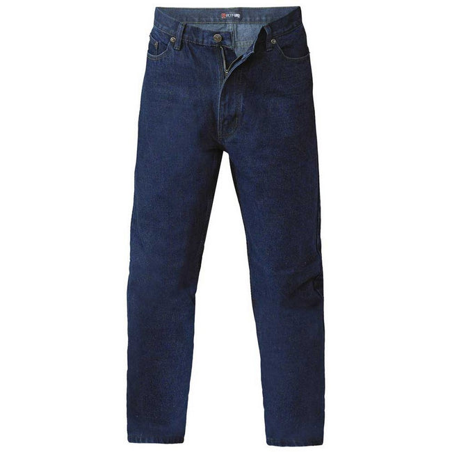 Stone - Front - Duke Mens Rockford Comfort Fit Jeans