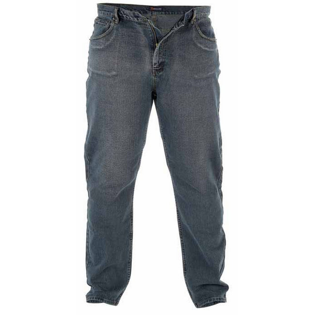 Dirty Denim - Front - Duke Mens Rockford Kingsize Comfort Fit Jeans