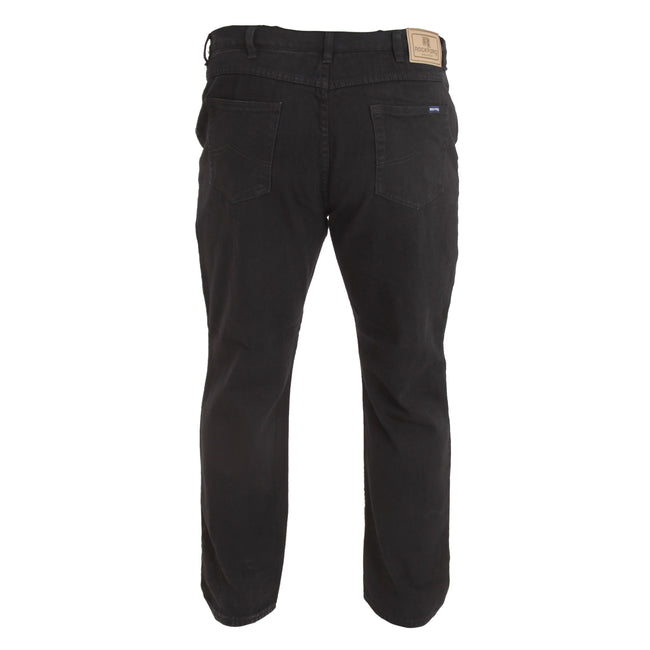 Black - Lifestyle - Duke Mens Rockford Kingsize Comfort Fit Jeans