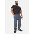 Stonewash - Back - Duke Mens Rockford Kingsize Comfort Fit Jeans