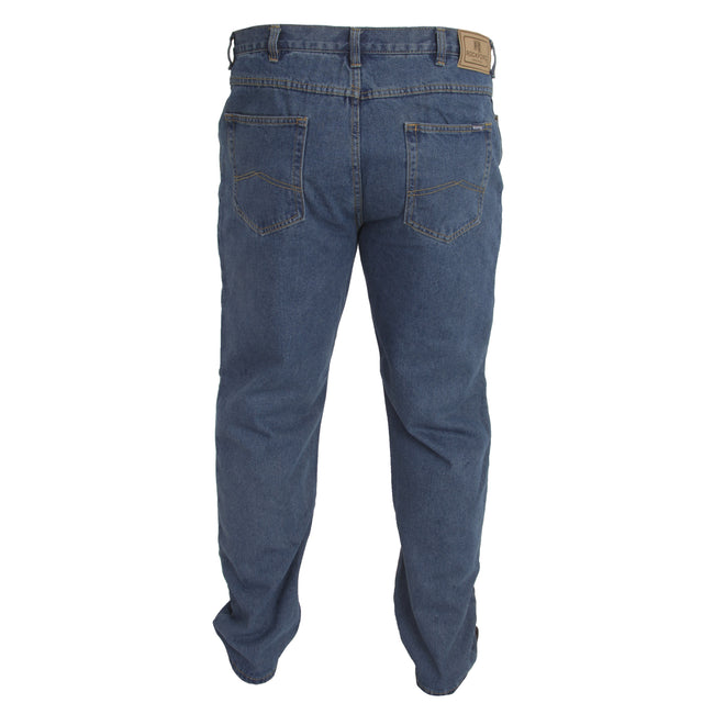Stonewash - Lifestyle - Duke Mens Rockford Kingsize Comfort Fit Jeans