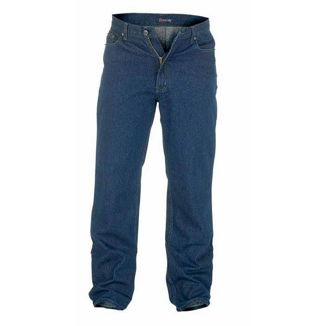 Indigo - Front - Duke Mens Rockford Kingsize Comfort Fit Jeans