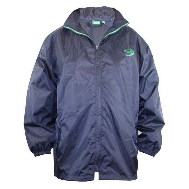 Navy - Back - Duke Mens Zac Kingsize D555 Packaway Weather Proof Rain Jacket