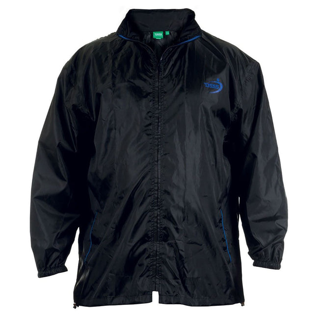 Black - Front - Duke Mens Zac Kingsize D555 Packaway Weather Proof Rain Jacket