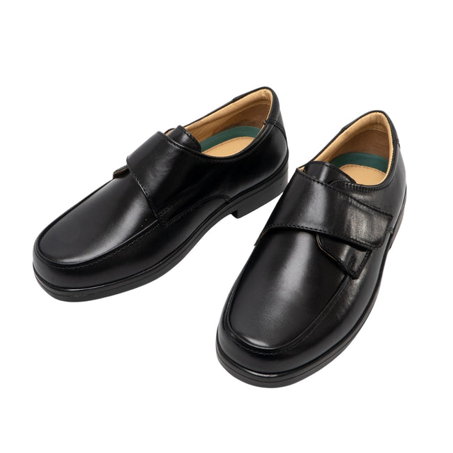 Brown - Front - Roamers Mens Extra Wide Fitting Touch Fastening Casual Shoes