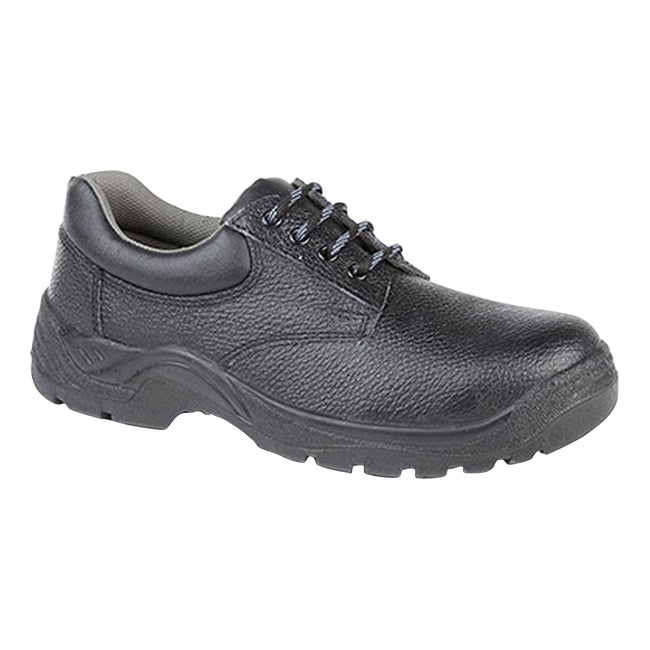 Black - Front - Grafters Mens Padded Collar 4 Eye Safety Shoes