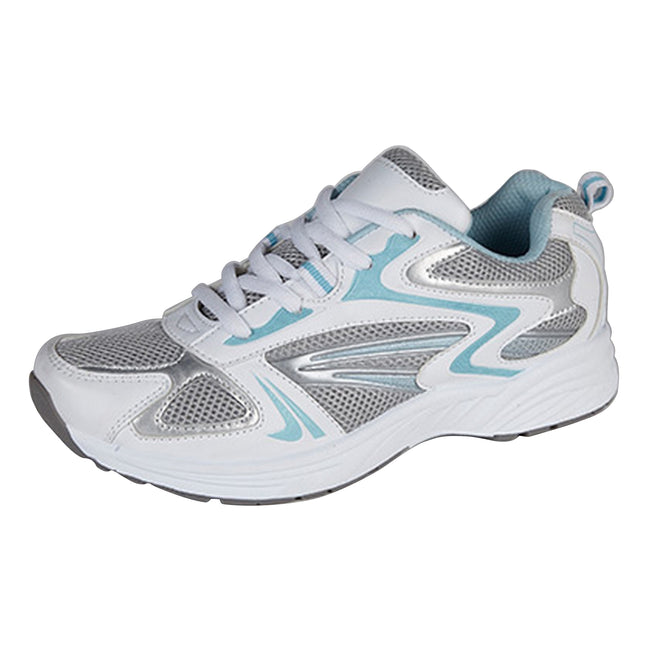 White-Blue - Front - Dek Womens-Ladies Sunset Lace Trainers