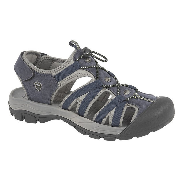 Navy - Front - PDQ Mens Toggle & Touch Fastening Superlight Sports Sandals