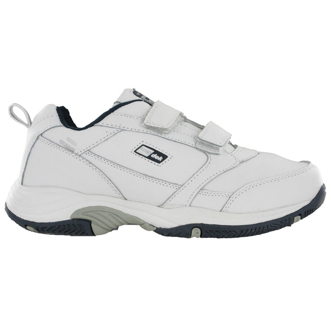 White - Back - Dek Mens Ohio Leather Trainers