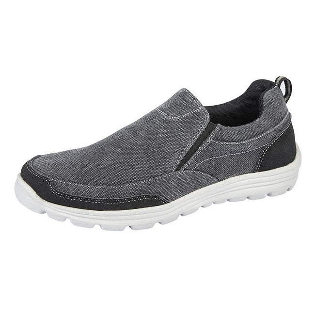 Black - Front - Dek Mens Memory Foam Slip On Shoes