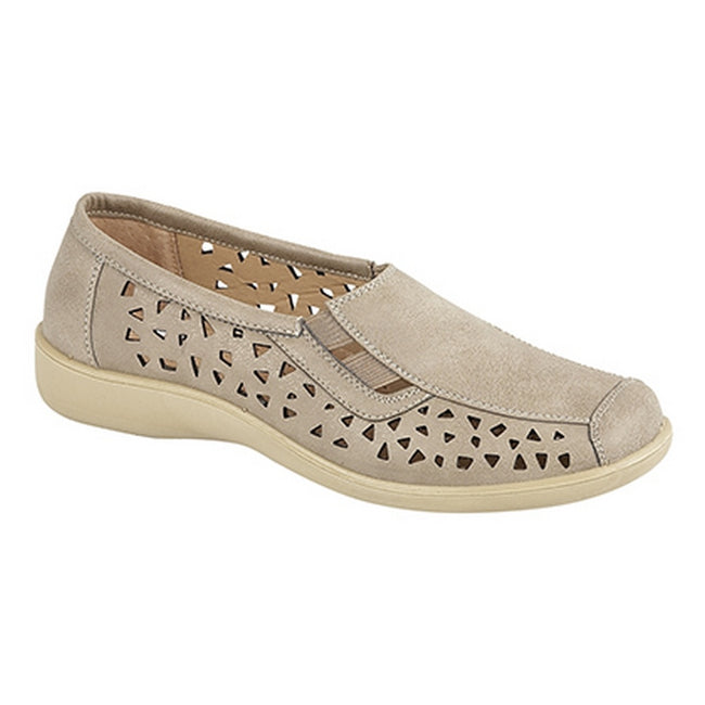 Stone - Front - Boulevard Womens-Ladies Side Gusset Summer Casual Shoes