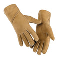 Tan - Front - Eastern Counties Leather Womens-Ladies Long Cuff Sheepskin Gloves